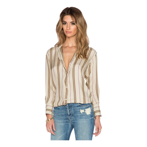 THE GREAT The century top - Silk blend. Dry clean only. Button front closure. Button...