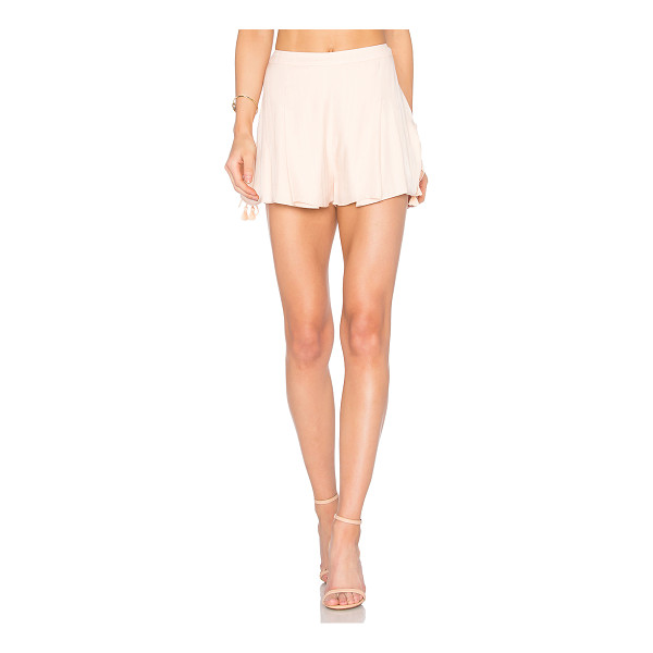 "THE JETSET DIARIES Ashanti Shorts - ""Rayon blend. Hand wash cold. Drawstring shirred sides with..."