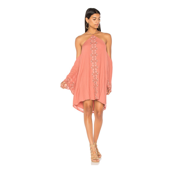 "THE JETSET DIARIES Desert Rose Mini Dress - ""Self & Lining: 100% rayon. Hand wash cold. Fully lined...."
