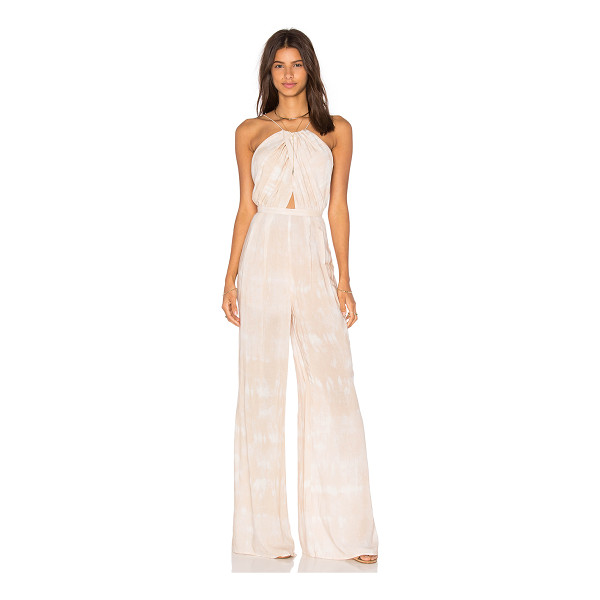 THE JETSET DIARIES Kingston Jumpsuit - 100% rayon. Hand wash cold. Waist tie. Back hidden zipper...