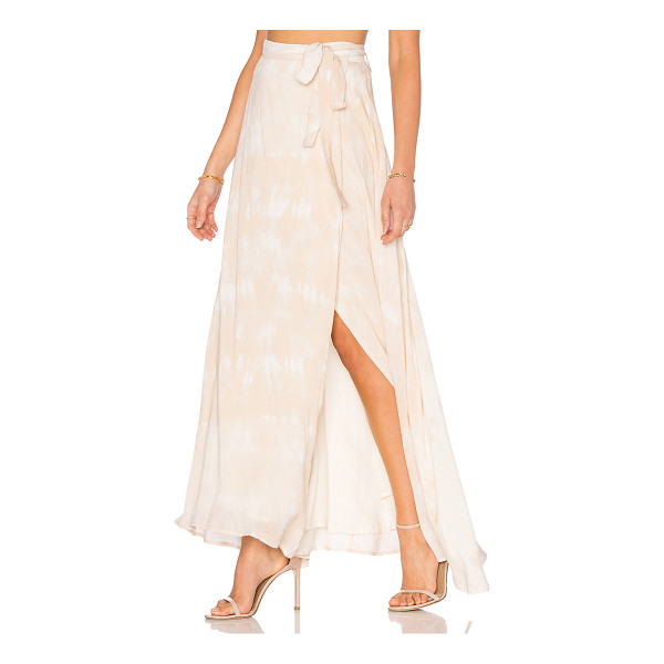 THE JETSET DIARIES Kingston Maxi Skirt - 100% rayon. Hand wash cold. Fully lined. Wrap front with