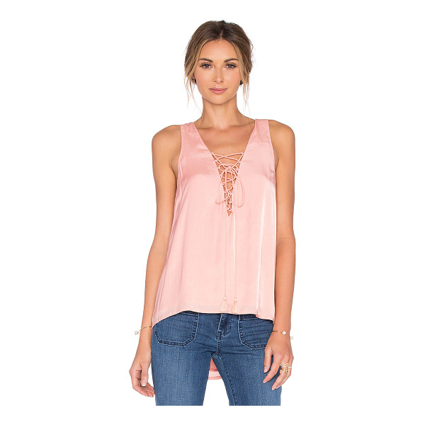 THE JETSET DIARIES Lotus Tank - Rayon blend. Hand wash cold. Lace-up front with tie...