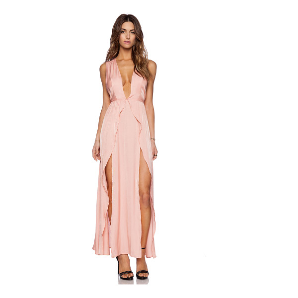 THE JETSET DIARIES Wavelength maxi dress - Rayon blend. Unlined. Belted waist. Fringe accent. Double...