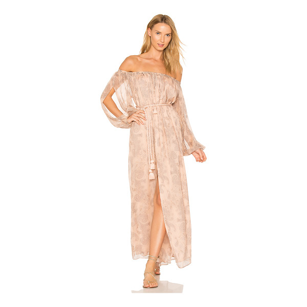 "THE JETSET DIARIES X REVOLVE Sublime Illusion Off-Shoulder Dress - ""Poly blend. Hand wash cold. Fully lined. Drawstring..."