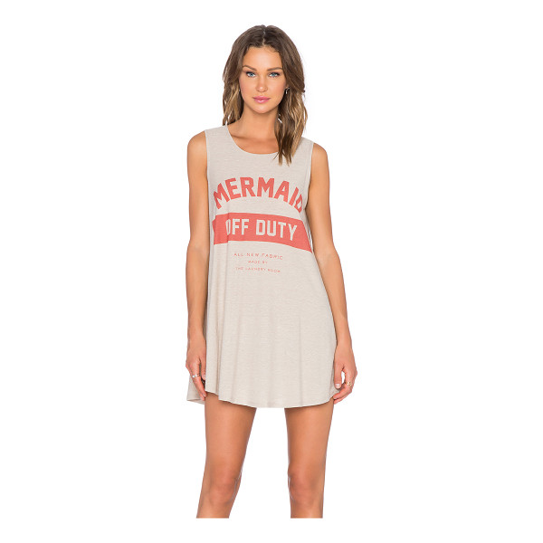 THE LAUNDRY ROOM Mermaid off duty uniform dress - Front graphic print. Intentionally pilled slub knit fabric....