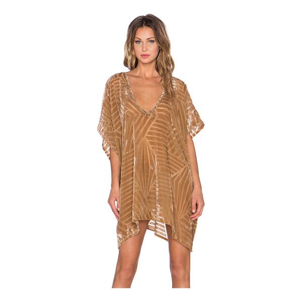 THE LDRS Velvet chevron caftan dress - Poly blend. Unlined. LDRS-WD5. D 450. Sweet summer vibes...