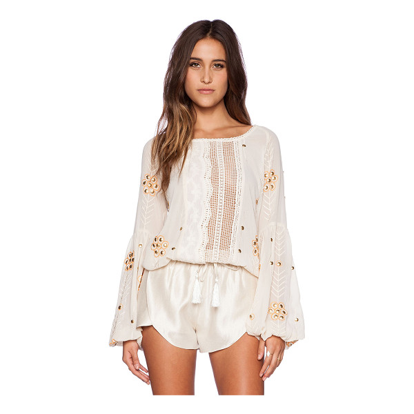 THE WALLFLOWER Journey top - 100% poly. Hand wash cold. Embroidered detail throughout....
