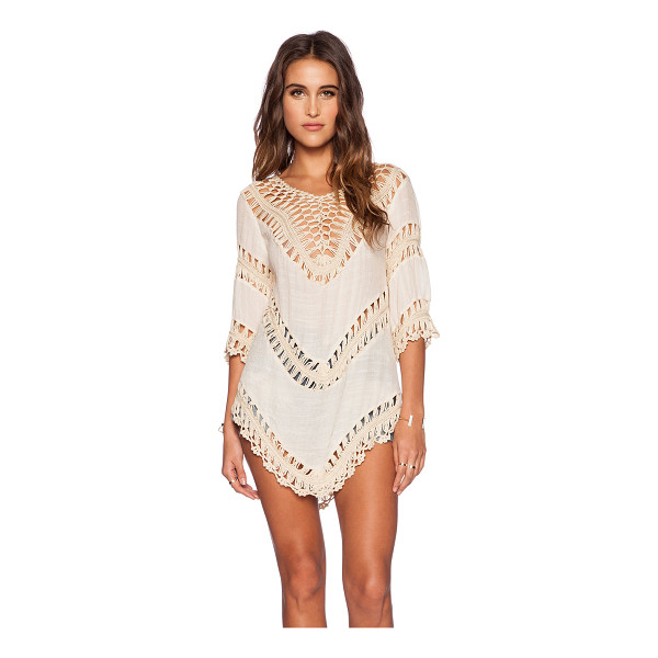 THE WALLFLOWER Luna tunic - Cotton blend. Unlined. Woven detail. WALL-WS2. B4041549....