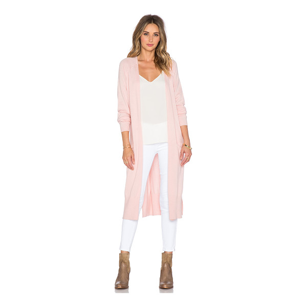 THE WALLFLOWER Mellow knit cardigan - Cotton blend. Dry clean only. Open front. Front slit...