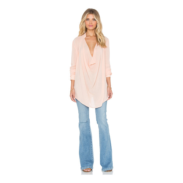 THE WALLFLOWER The wallflower wild drape top - Poly blend. Neckline keyhole with button closure. Button...