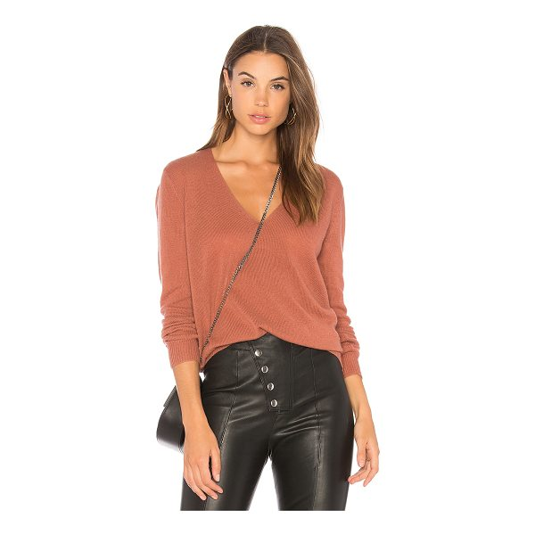 THEORY Adrianna RL Sweater - 100% cashmere. Dry clean only. Knit fabric. Rib knit trim....