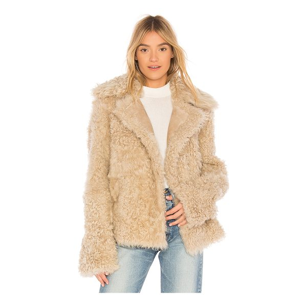 Theory Dyed Shearling Peacoat Nudevotion Com