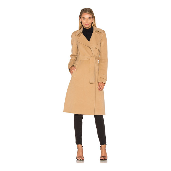 THEORY Oaklane Trench Coat - Wool blend. Dry clean only. Waist tie front closure. Side...