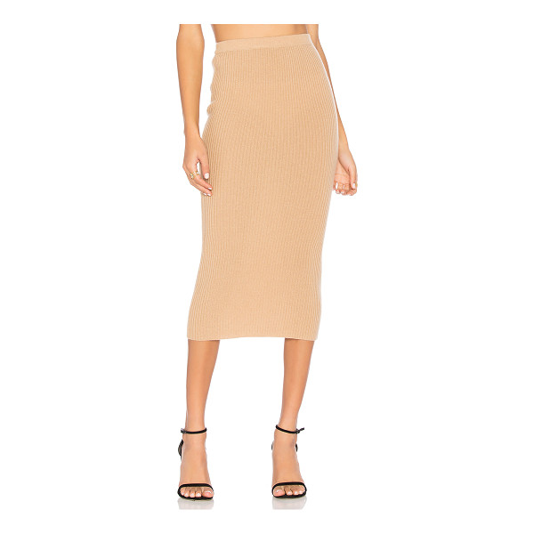THEPERFEXT Victoria Skirt - 100% cashmere. Dry clean only. Rib knit fabric. Elasticized...