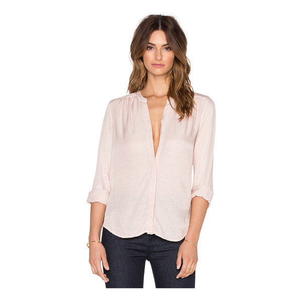 THREE DOTS Julia blouse - 53% rayon 47% cupro. Front button closure. Dry clean only....