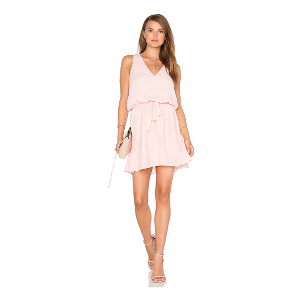 THREE EIGHTY TWO Harper Mini Dress - 100% poly. Partially lined. Elasticized waist with belted...