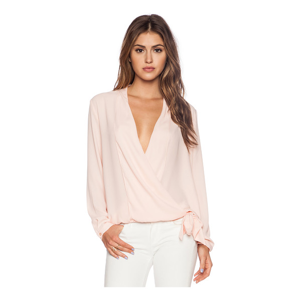 THREE EIGHTY TWO Stella surplice top - 100% poly. Front button closure. Elasticized hem. Buttoned...
