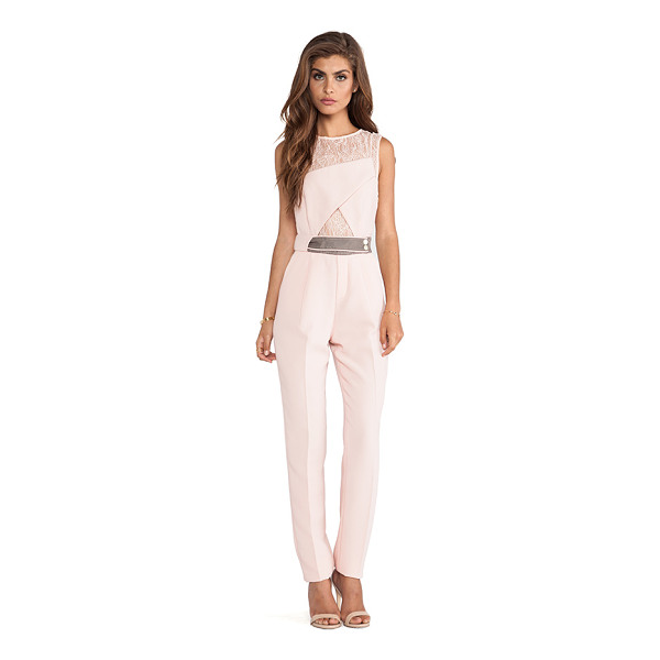 THREE FLOOR Realm jumpsuit - Self: 100% polyCombo 1: 95% polyamide 5% elastaneCombo 2:...