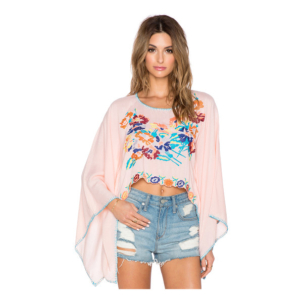 TIARE HAWAII Beliz crop top - 100% rayon. Hand wash cold. Embroidery throughout....