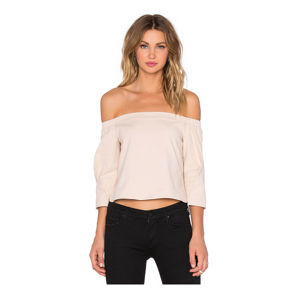 TIBI Agathe off shoulder top - 48% cotton 45% polyamide 7% elastane. Dry clean only....
