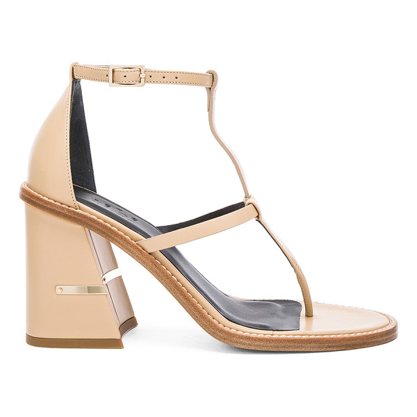 TIBI Chloe sandal - Leather upper and sole. Ankle strap with buckle closure....