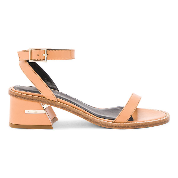 TIBI Peyton Sandals - Leather upper and sole. Wrap ankle with buckle closure.