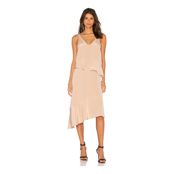 TIBI Pleated Double Layer Dress - 100% silk. Dry clean only. Unlined. TIBI-WD502....