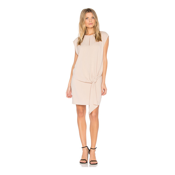 TIBI Savanna Tie Front Dress - Poly blend. Dry clean only. Fully lined. Neckline keyhole....