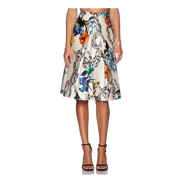 TIBI Tattoo print pleated skirt - Self: 100% silkLining 1: 100% acetateLining 2: 100% poly....