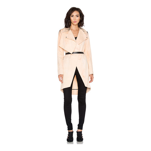 TITANIA INGLIS Mantle trench - Cotton blend. Open front. Shoulder yoke panel. Belted...