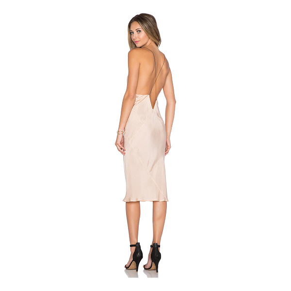 TITANIA INGLIS x REVOLVE Plunge Slip dress - 100% cupro. Hand wash cold. Unlined. TITR-WD5. DRS1105....