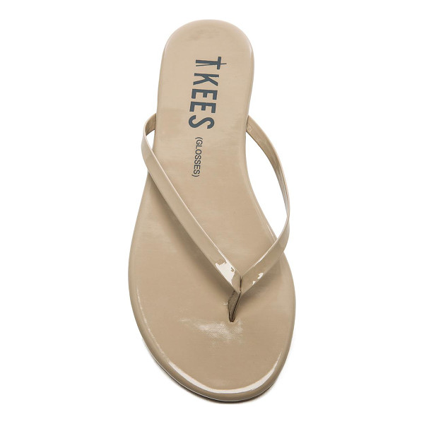 TKEES Sandals - Patent leather upper with rubber sole. TKEE-WZ28. GLOSSES....
