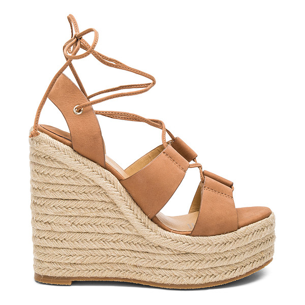 TONY BIANCO Biba Wedge - Leather upper with rubber sole. Lace-up front with wrap tie...