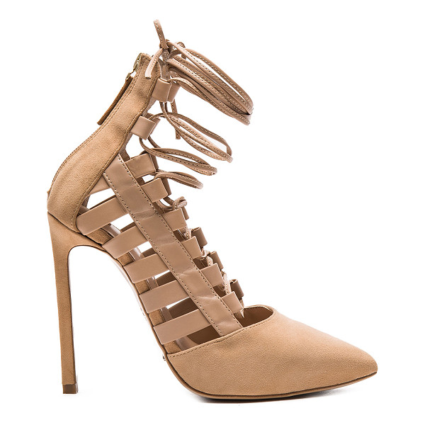 TONY BIANCO Fancie heel - Suede and leather upper with man made sole. Lace-up front...