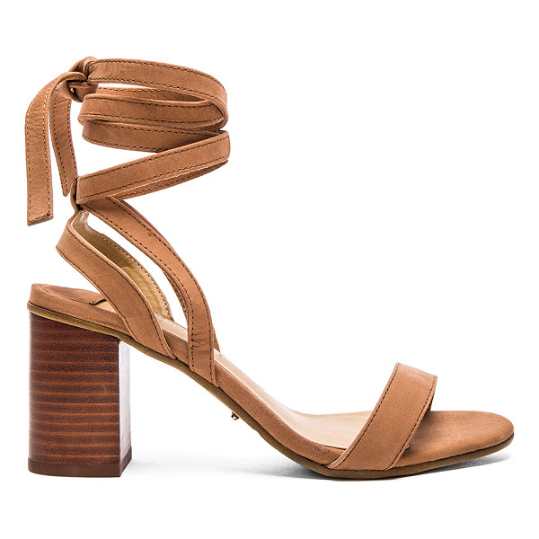 TONY BIANCO Fortune Heel - Leather upper with man made sole. Wrap ankle with tie...