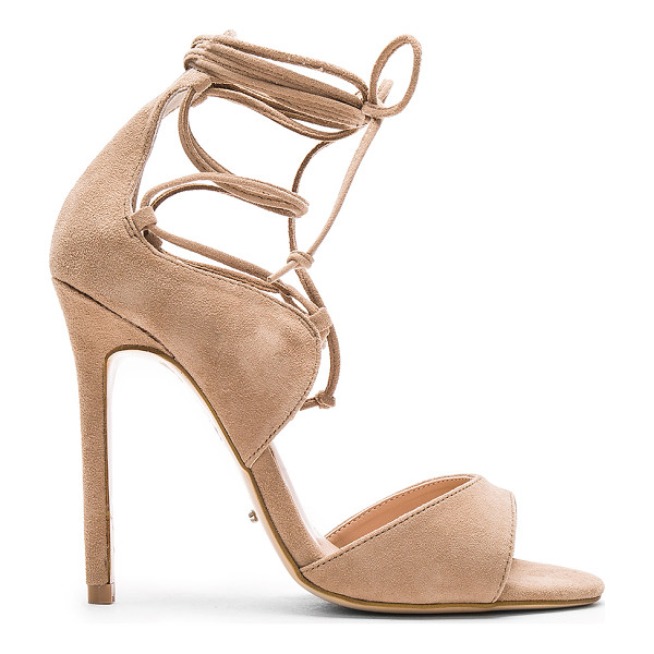 TONY BIANCO Karim Heel - Suede upper with man made sole. Lace-up front with wrap tie...