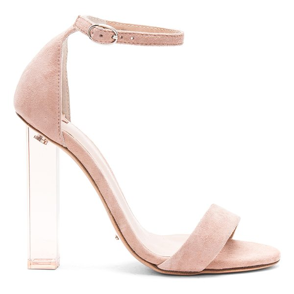 """TONY BIANCO Kashmir Heel - """"Suede upper with man made sole. Ankle strap with buckle..."""