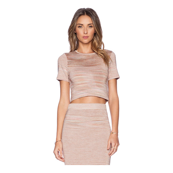 TORN BY RONNY KOBO Freya crop top - 84% rayon 12% spandex 4% poly. Dry clean only. Cut-out...