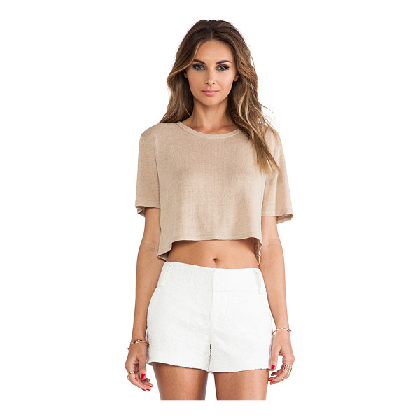 TORN BY RONNY KOBO Nira crop tee - Acrylic blend. TORN-WS148. 29-5064BUR. Torn between fashion...