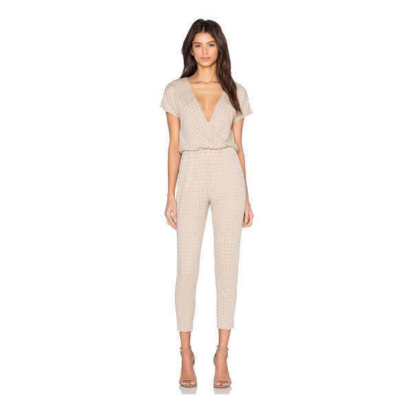 TRINA TURK Jaxen Jumpsuit - 70% rayon 30% poly. Dry clean only. Elasticized waist. Side