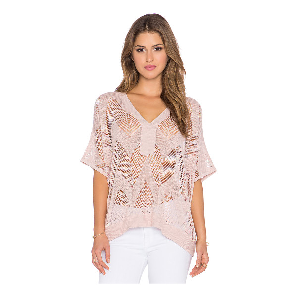 TRINA TURK Joplin top - 94% cotton 6% nylon. Dry clean only. Eyelet knit. Ribbed...