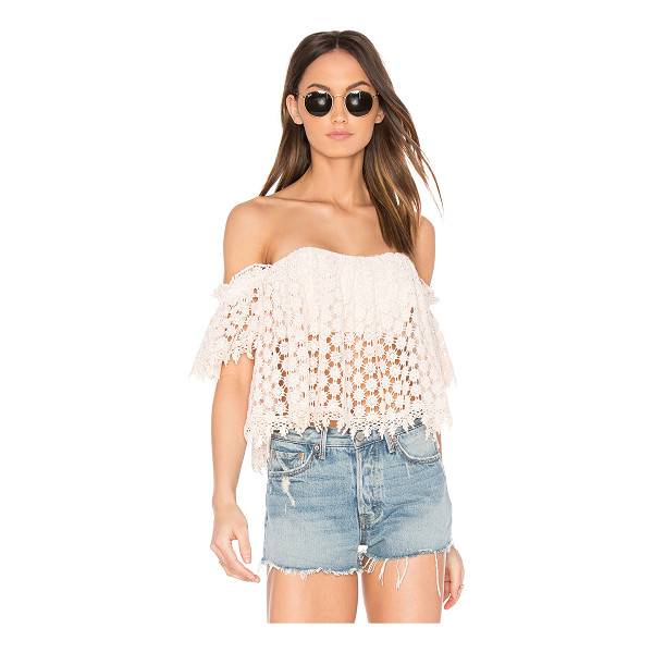 TULAROSA x REVOLVE Amelia Crop Top - Play up this season's key asset in the off-the-shoulder...