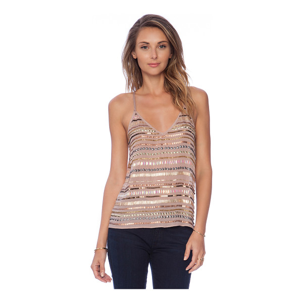 TULAROSA X revolve crystal cami - Poly blend. Sequined throughout. TULA-WS30. TR14F057....