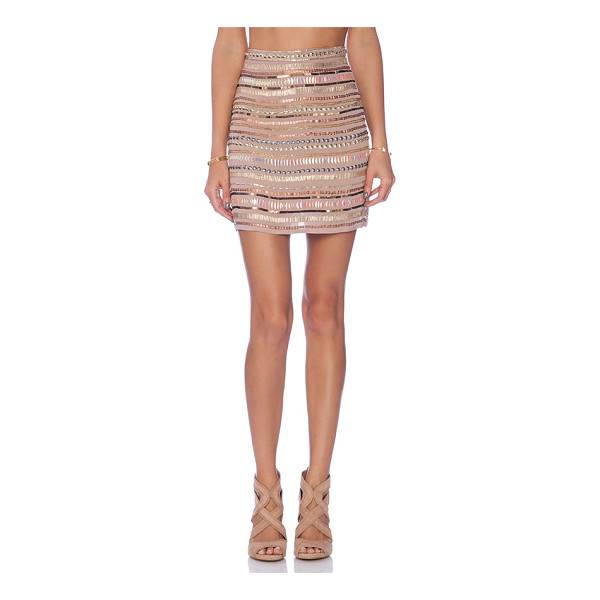 "TULAROSA X revolve crystal skirt - Poly blend. Dry clean only. Skirt measures approx 17"""" in..."