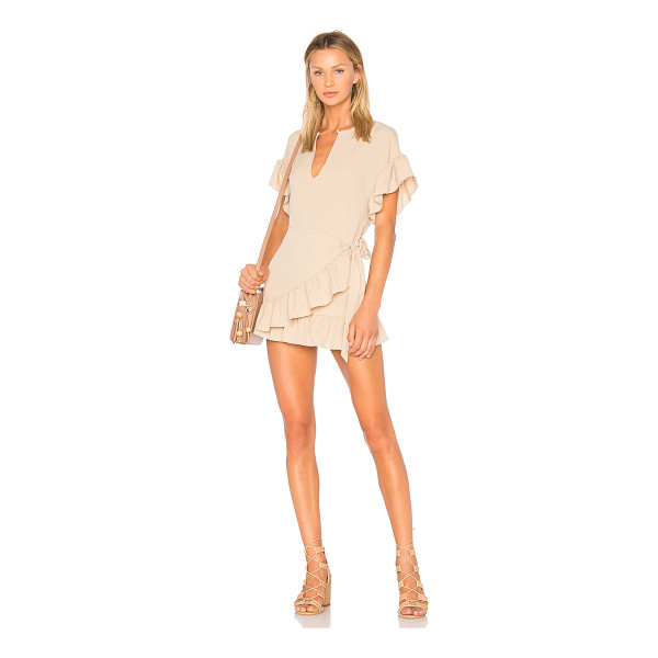 TULAROSA Jenny Dress - Step into neutral territory with this nude toned mini dress...