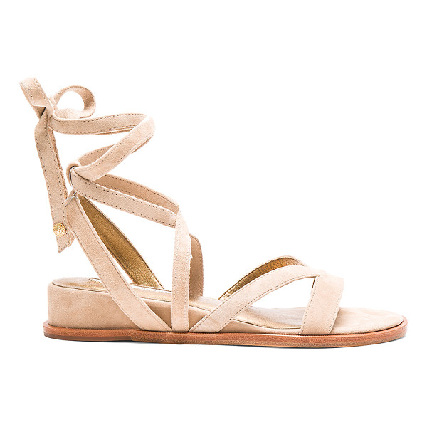 TWELFTH ST. BY CYNTHIA VINCENT Patience sandal - Suede upper with leather sole. Wrap ankle with tie closure....