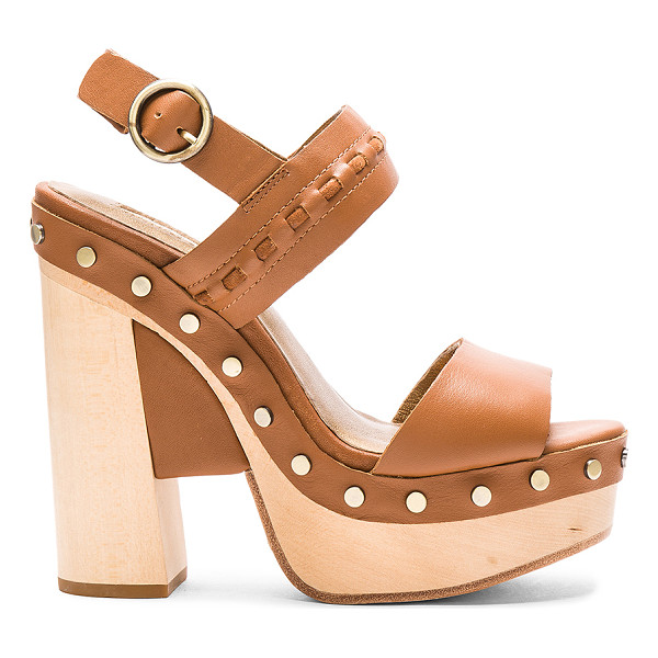 TWELFTH ST. BY CYNTHIA VINCENT Potent heel - Leather upper and sole. Ankle strap with buckle closure....