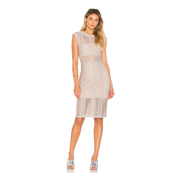 TWENTY Crafted Mesh Midi Dress - Self: 80% poly 20% spandexLining: 100% poly. Dry clean...