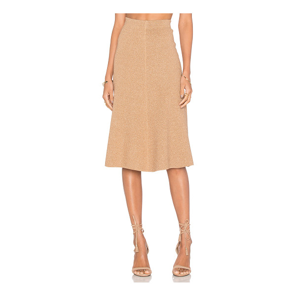 TY-LR The Magnitude Knit Skirt - 68% viscose 32% polyamide. Hand wash cold. Unlined. Elastic...
