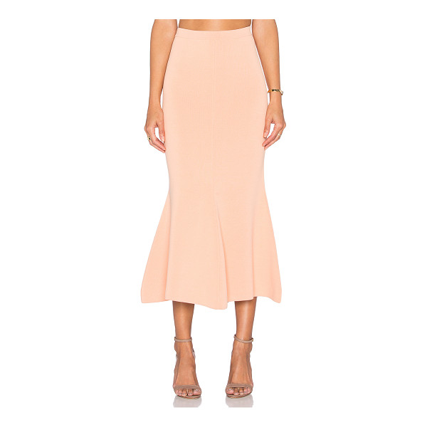TY-LR The vantage knit skirt - 68% viscose 32% polyamide. Dry clean only. Unlined. Elastic...